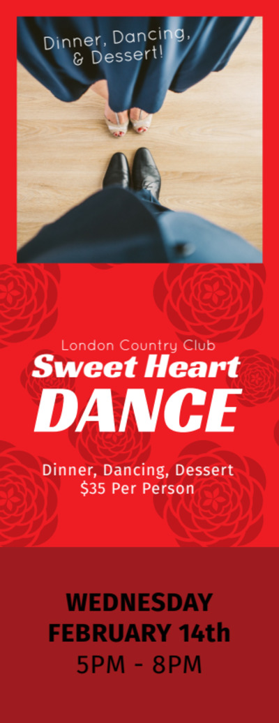 Valentine's Day Dance Ticket Template Preview 2