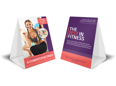 Personal Trainer Promotional Table Tent Template preview