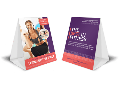 Personal Trainer Table Tents Template Preview