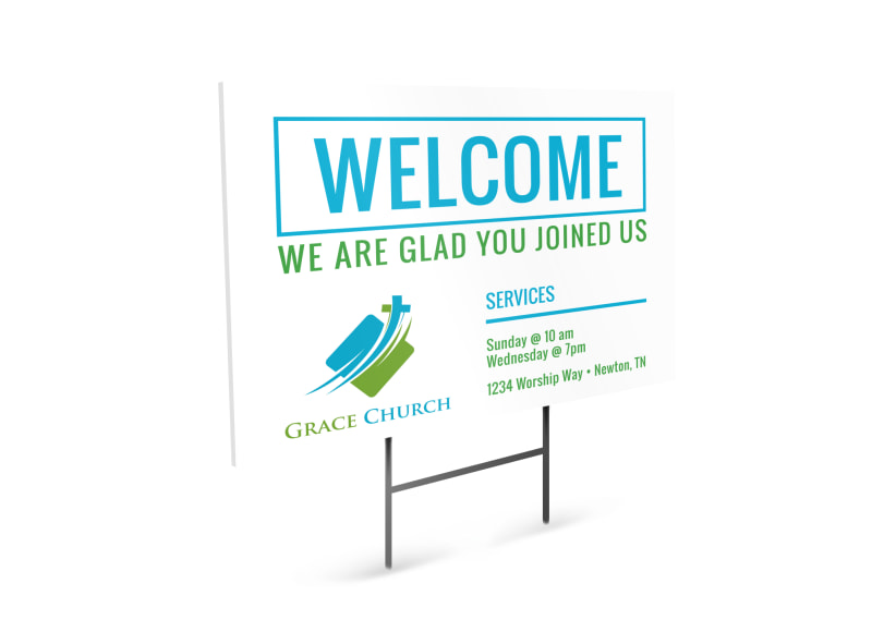 graphic relating to Welcome Signs Template named Church Welcome Signal Template MyCreativeShop