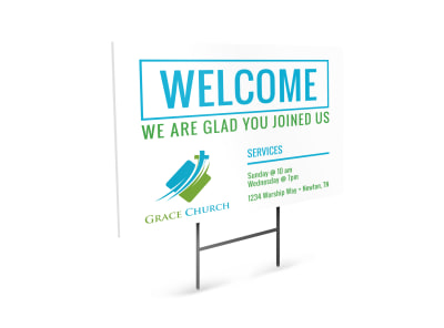 Church Welcome Sign Template preview
