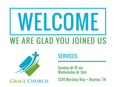 Church Welcome Sign Template Preview 1