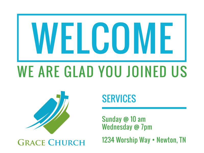 Church Welcome Sign Template Preview 2
