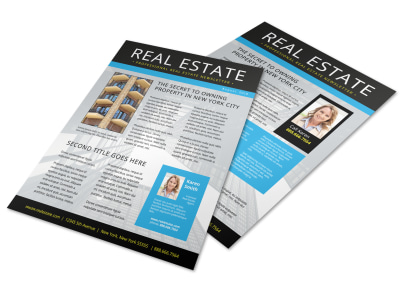 Blue Real Estate Newsletter Template preview
