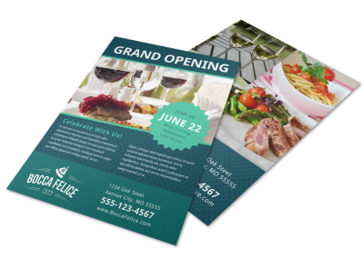 Restaurant Grand Opening Flyer Template preview