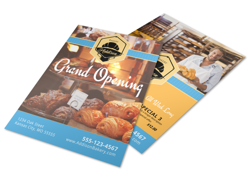 Bakery Grand Opening Flyer Template Preview 1