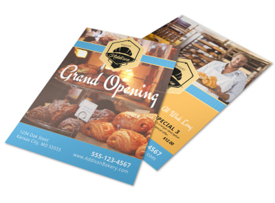 Bakery Grand Opening Flyer Template preview