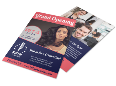 Hair Salon Grand Opening Flyer Template preview