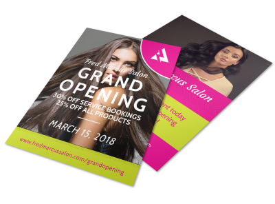 Salon Grand Opening Flyer Template preview