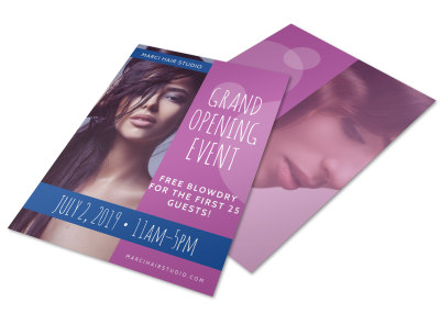 Hair Salon Grand Opening Specials Flyer Template preview