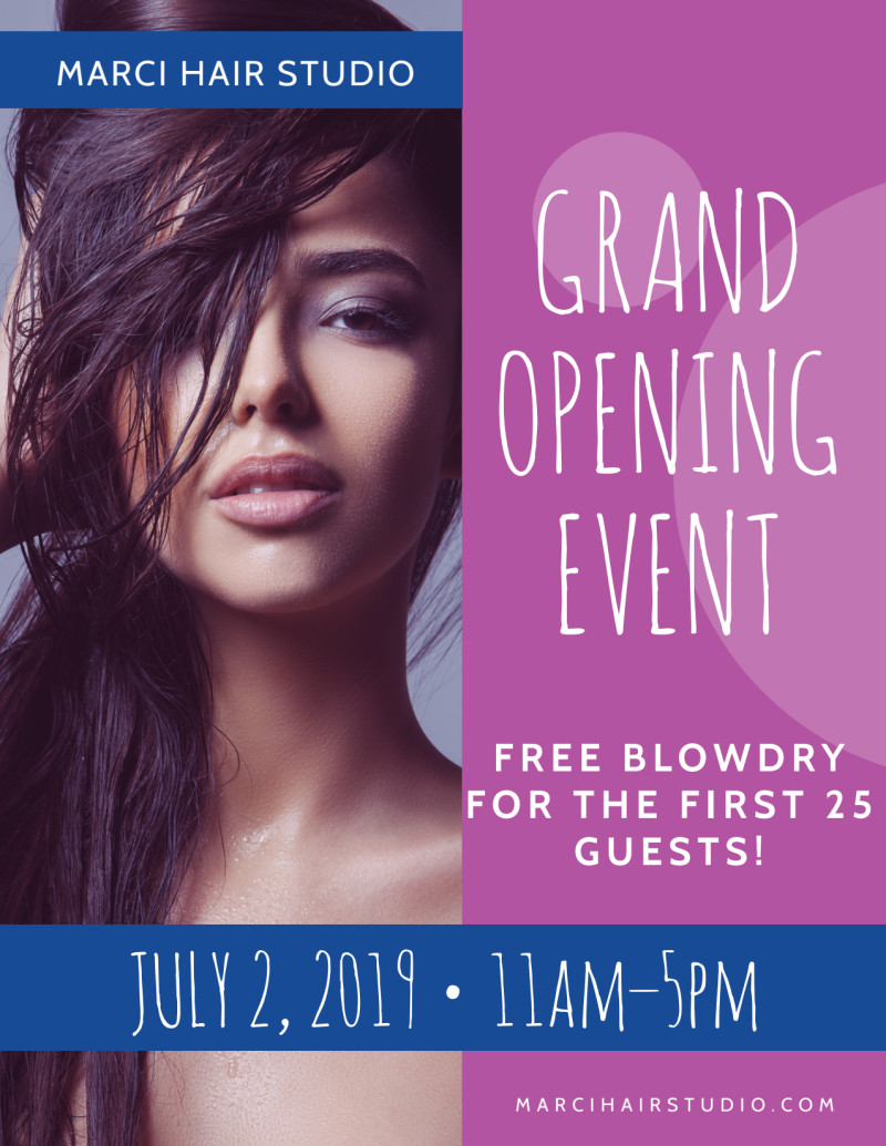 Hair Salon Grand Opening Specials Flyer Template Preview 2