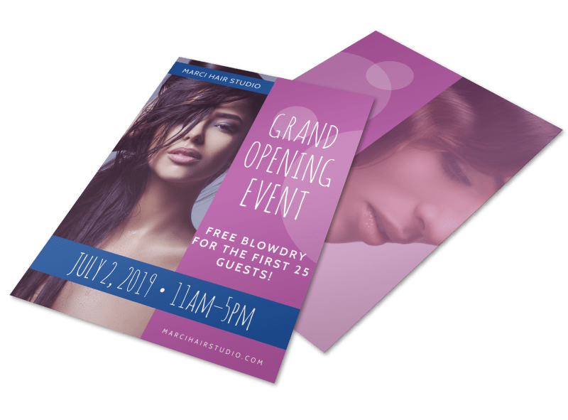 Hair Salon Grand Opening Specials Flyer Template Preview 1