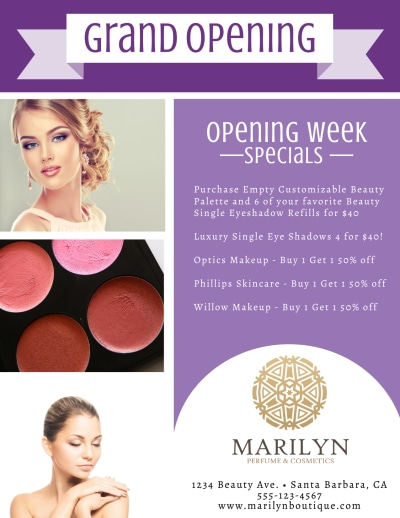 Boutique Grand Opening Flyer Template Preview 2