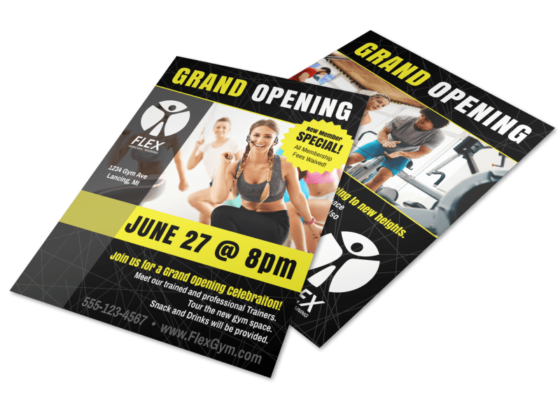 Fitness Gym Grand Opening Flyer Template Preview 1