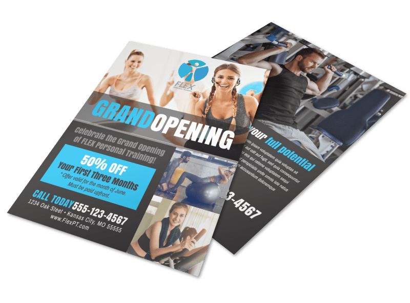 Fitness Grand Opening Flyer Template Preview 1