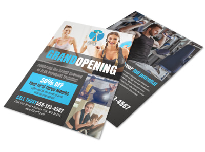 Fitness Grand Opening Flyer Template preview