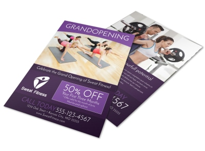 Gym Grand Opening Special Flyer Template