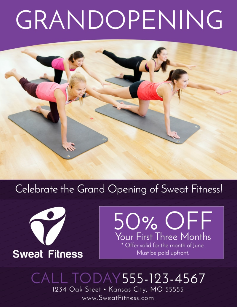 Gym Grand Opening Special Flyer Template Preview 2