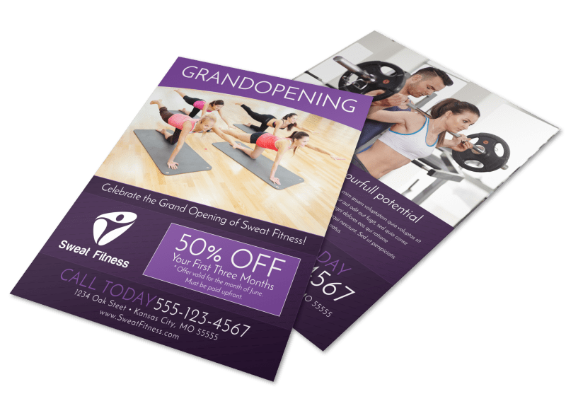 Gym Grand Opening Special Flyer Template Preview 1