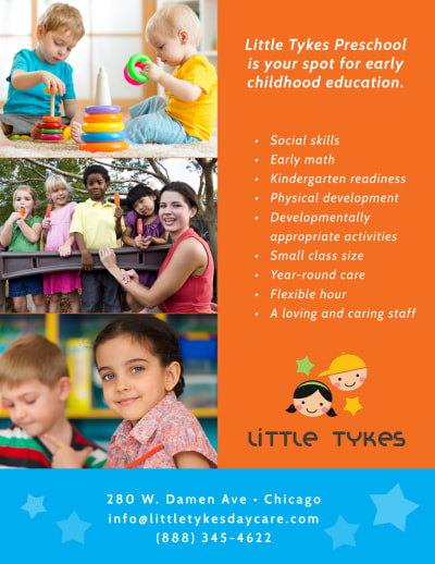 Awesome Daycare Grand Opening Flyer Template Preview 2