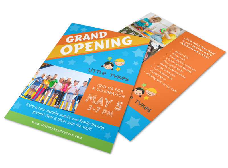 Awesome Daycare Grand Opening Flyer Template Preview 1