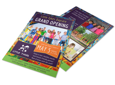 Tykes Daycare Grand Opening Flyer Template preview