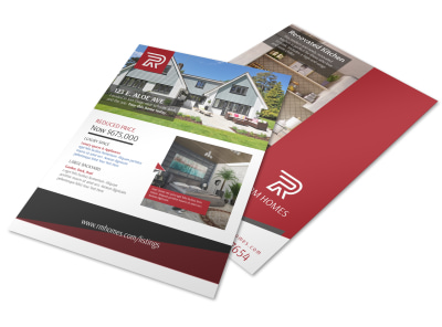 Luxury Real Estate Price Reduced Flyer Template preview