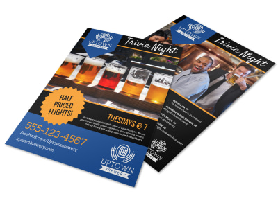 Brewery Trivia Night Flyer Template preview