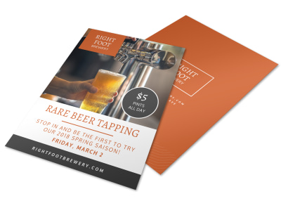 Rare Beer Tapping Flyer Template preview