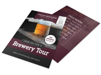 Union Brewery Tour Flyer Template preview