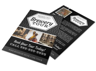 Brooker Brewery Tour Flyer Template preview