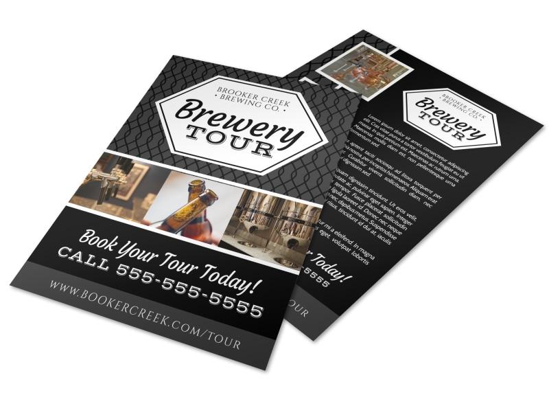 Brooker Brewery Tour Flyer Template