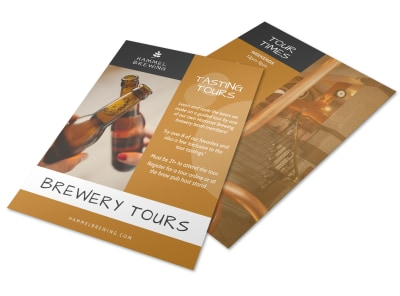 Beer Tasting Tour Flyer Template preview
