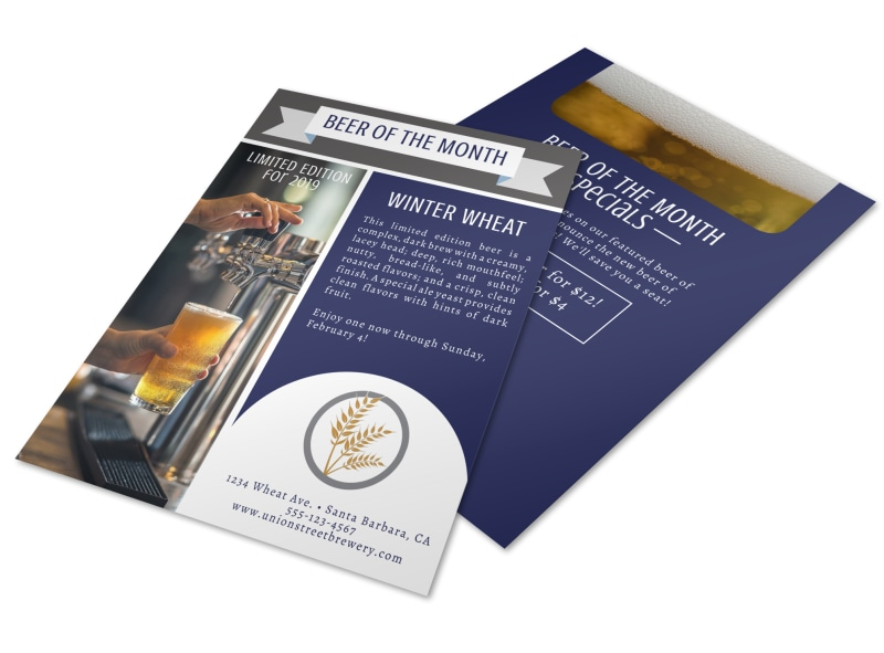 Beer Of The Month Flyer Template