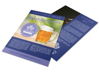 Sunset Ale Beer Flyer Template preview