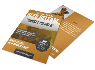 Beer Release Schedule Flyer Template