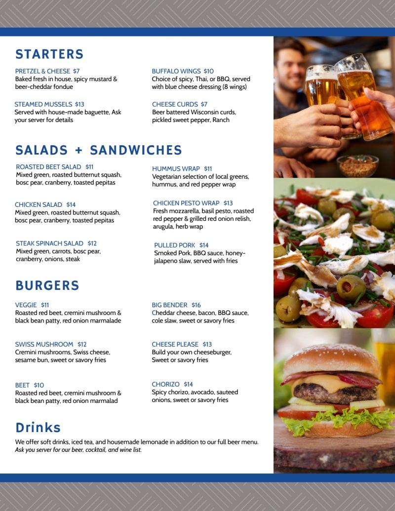 Rockford Brewery Menu Template Preview 3