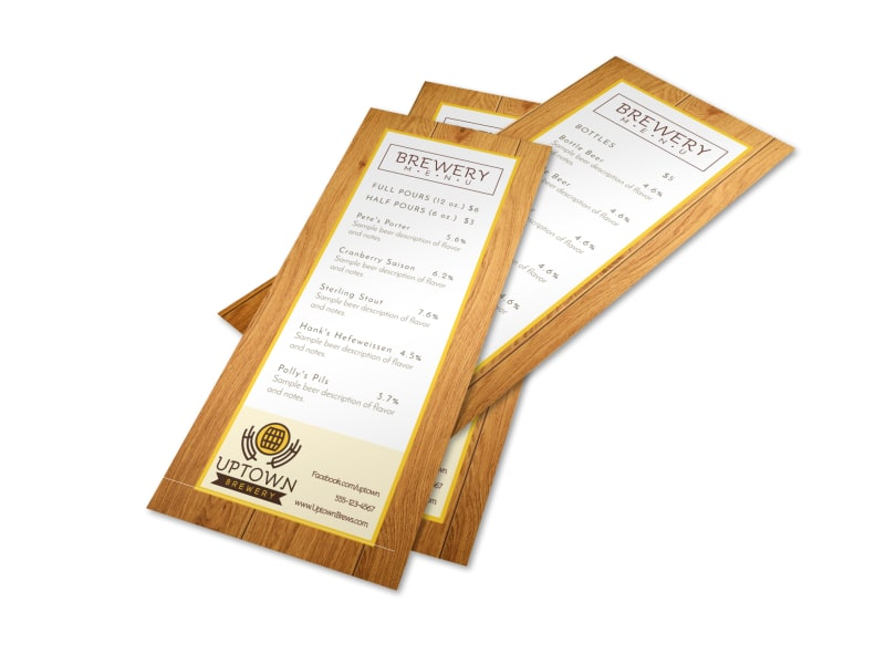 Brewery Menu Template