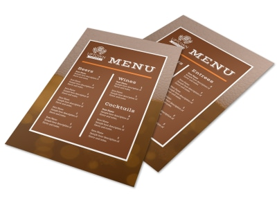 Refreshing Brewery Menu Template