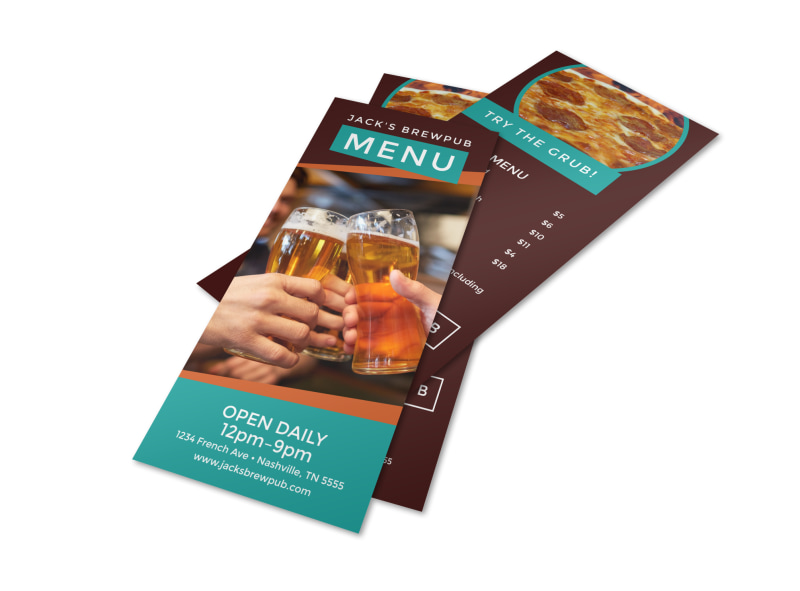 Brewery Grub Menu Template