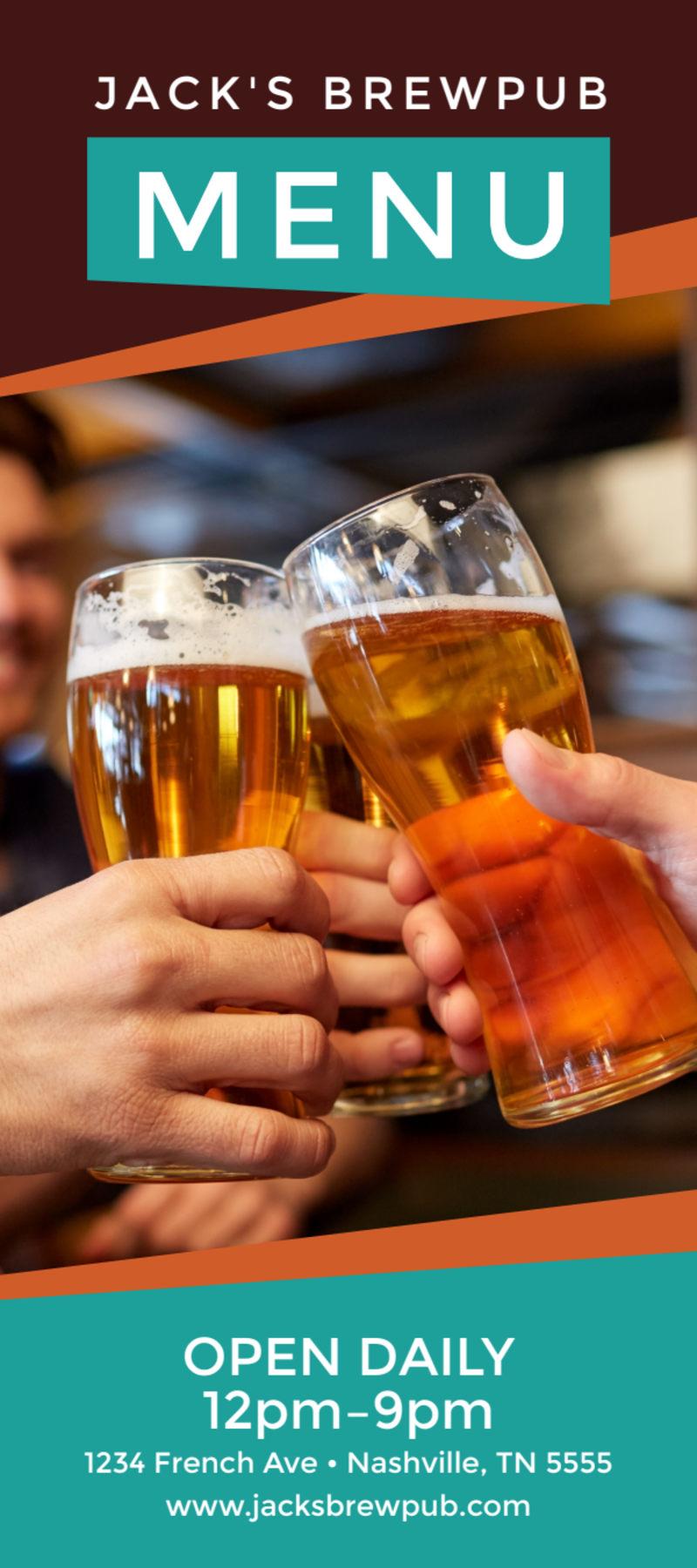 Brewery Grub Menu Template Preview 2