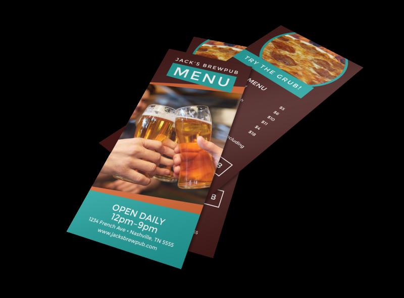 Brewery Grub Menu Template Preview 1