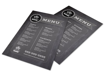 Chalk Brewery Menu Template preview