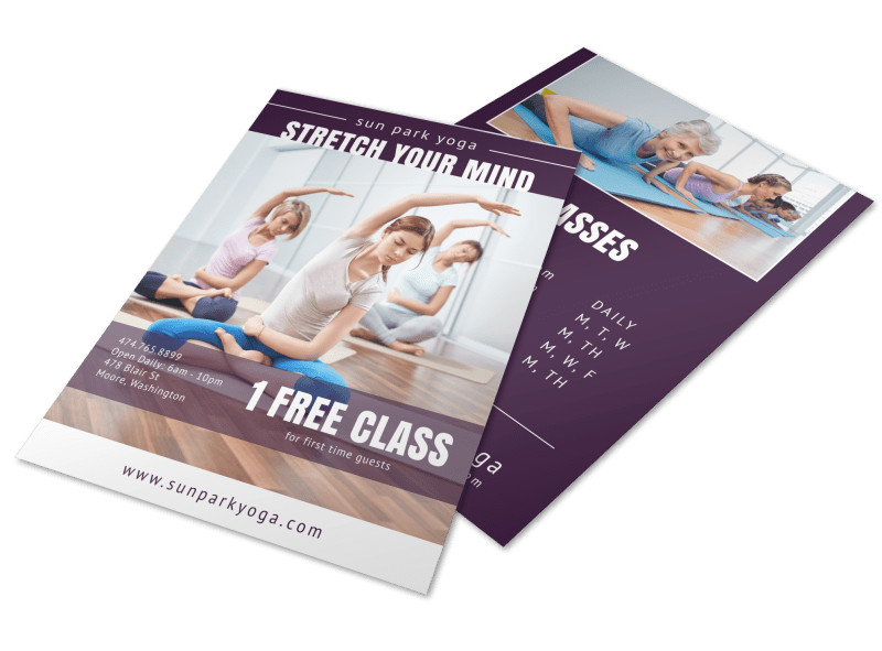 Yoga Class Studio Flyer Template Preview 1