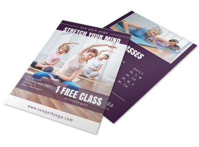 Yoga Class Studio Flyer Template