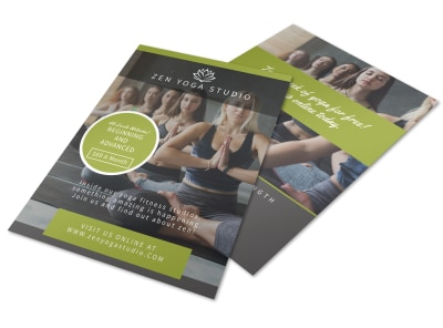 Zen Yoga Studio Flyer Template preview