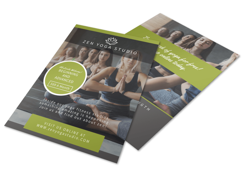 Zen Yoga Studio Flyer Template Preview 1