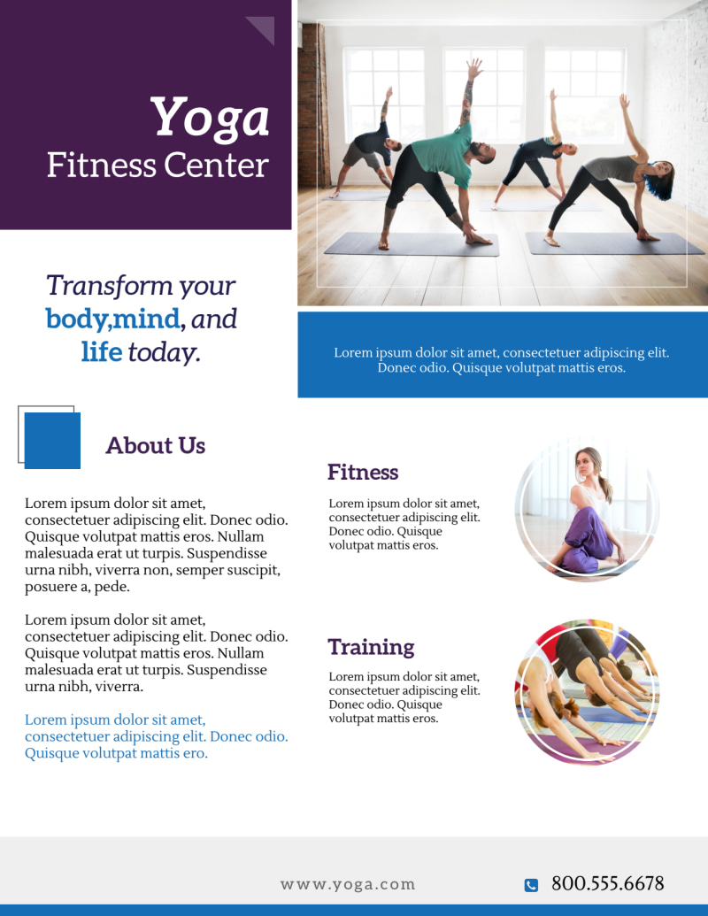 Mindful Yoga Studio Flyer Template Preview 3