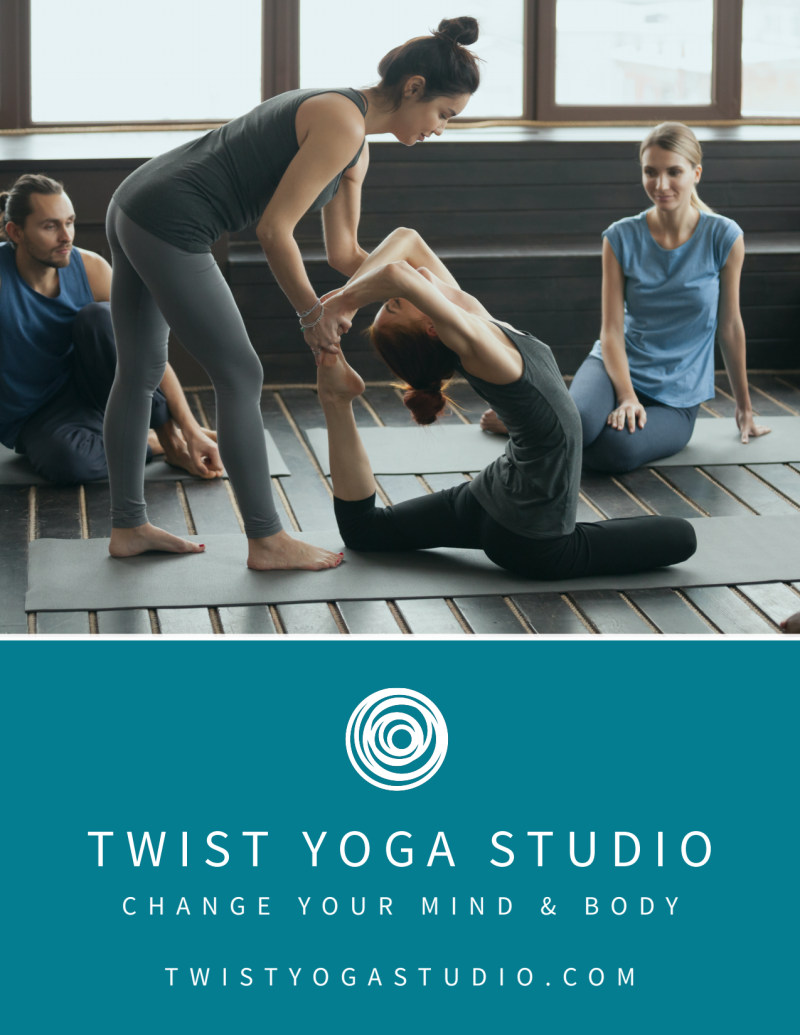 Yoga Fitness Workshop Flyer Template Preview 3