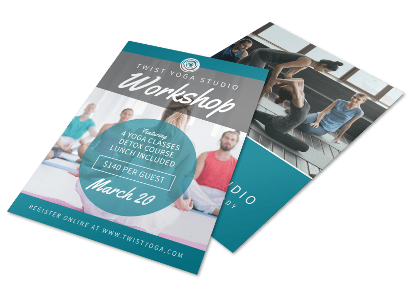 Yoga Fitness Workshop Flyer Template Preview 1